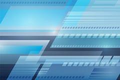 Abstracte vector blauwe golfachtergrond, Futuristische technologiedesi Stock Afbeelding