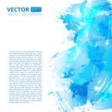 Abstracte vector blauwe waterverfachtergrond Royalty-vrije Stock Foto
