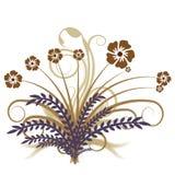 Abstracte vector bloemen van de herfst Stock Foto's