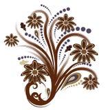 Abstracte vector bloemen van de herfst royalty-vrije illustratie