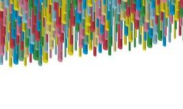 Abstracte vector 3D achtergrond Multi-colored bont gestreepte achtergrond Stock Illustratie