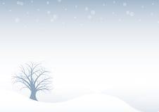Abstracte vector de winterboom DE vector illustratie