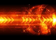 Abstracte vector digitale technologieillustratie als achtergrond Stock Afbeelding