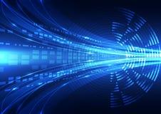 Abstracte vector digitale toekomstige technologieillustratie als achtergrond Stock Afbeelding