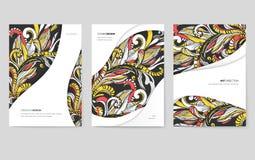 Abstracte vector geplaatste brochurekaarten Het malplaatje van de drukkunst van flyear, tijdschriften, affiches, boekdekking, ban royalty-vrije illustratie