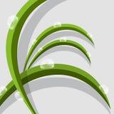 Abstracte Vector Groene Grasbladeren Royalty-vrije Stock Foto's