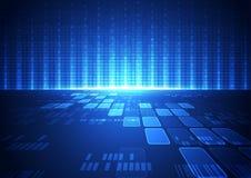 Abstracte vector hallo de technologie van snelheidsinternet illustratie als achtergrond Stock Fotografie
