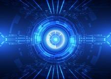 Abstracte vector hallo de technologie van snelheidsinternet illustratie als achtergrond Royalty-vrije Stock Foto