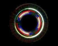 Abstracte vector hallo de technologie van snelheidsinternet illustratie als achtergrond op donkere kleur stock illustratie