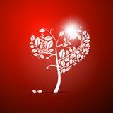 Abstracte Vector hart-Gevormde Boom Royalty-vrije Stock Fotografie