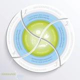 Abstracte vector infographic ontwerpcirkel Royalty-vrije Stock Fotografie