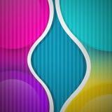 Abstracte Vector Kleurrijke Achtergrond Stock Fotografie