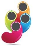 Abstracte vector kleurrijke achtergrond voor brochure vector illustratie