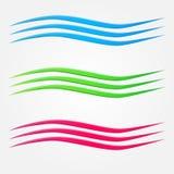 Abstracte vector kleurrijke bedrijfsgolven royalty-vrije illustratie