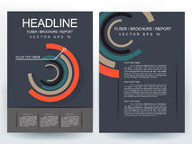 Abstracte vector moderne het ontwerpmalplaatjes van de vliegersbrochure Royalty-vrije Stock Afbeelding