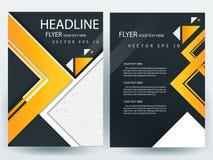 Abstracte vector moderne het ontwerpmalplaatjes van de vliegersbrochure Stock Foto