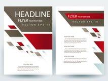 Abstracte vector moderne het ontwerpmalplaatjes van de vliegersbrochure Stock Afbeeldingen