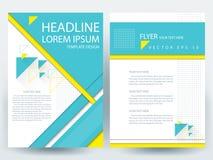 Abstracte vector moderne het ontwerpmalplaatjes van de vliegersbrochure Royalty-vrije Stock Afbeeldingen