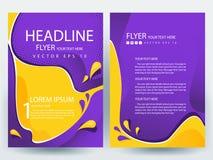 Abstracte vector moderne het ontwerpmalplaatjes van de vliegersbrochure Royalty-vrije Stock Foto