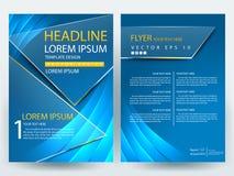 Abstracte vector moderne het ontwerpmalplaatjes van de vliegersbrochure Stock Fotografie