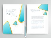 Abstracte vector moderne het ontwerpmalplaatjes van de vliegersbrochure Stock Afbeelding