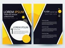 Abstracte vector moderne het ontwerpmalplaatjes van de vliegersbrochure stock illustratie
