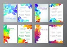 Abstracte vector moderne vliegersbrochures geplaatst ontwerpmalplaatje Royalty-vrije Stock Afbeelding