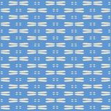 Abstracte vector naadloos herhaalt patroonachtergrond Zoet hand getrokken blauw en room geweven textuurachtergrond vector illustratie