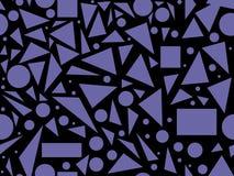 Abstracte vector naadloze textuur met diverse geometrische vormen Royalty-vrije Stock Foto