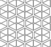 Abstracte vector naadloze textuur - parallellepipeda Royalty-vrije Stock Afbeelding
