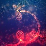Abstracte vector ruimteachtergrond Explosie van gloeiende deeltjes Futuristische technologiestijl e royalty-vrije illustratie