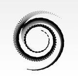Abstracte vector spiraalvormige elementen, radiale geometrische gestreepte patronen Stock Afbeelding