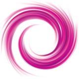 Abstracte vector spiraalvormige karmozijnrode kleur als achtergrond Stock Afbeelding