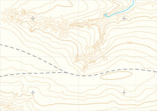 Abstracte vector topografische kaart Stock Fotografie