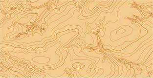 Abstracte vector topografische kaart in bruine kleuren Royalty-vrije Stock Fotografie