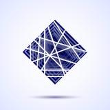 Abstracte vector vierkante vorm Abstract geometrisch modern ontwerpmalplaatje voor uw logotype Vector illustratie Royalty-vrije Stock Foto's