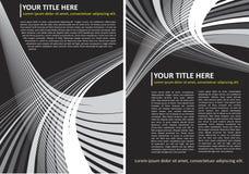 Abstracte Vector Zwart-witte Achtergrond Stock Foto
