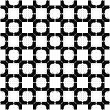Abstracte vector zwart-witte herhaalde patronen, Stock Afbeeldingen