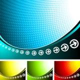 Abstracte vectorachtergrond Stock Fotografie