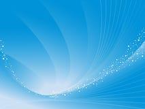 Abstracte vectorachtergrond in blauw met krommen royalty-vrije illustratie