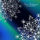 Abstracte vectorachtergrond Mandala op de kleurrijke golfachtergrond Royalty-vrije Stock Fotografie