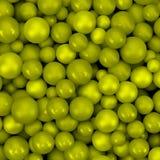 Abstracte vectorachtergrond met diverse ballen Stock Fotografie