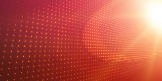 Abstracte vectorachtergrond met glanzende neonlichten Neonteken met abstract beeld in perspectief Royalty-vrije Stock Afbeelding