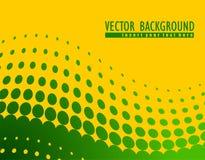 Abstracte vectorachtergrond met groene cirkels Royalty-vrije Stock Fotografie
