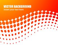 Abstracte vectorachtergrond met oranje cirkel Royalty-vrije Stock Foto's