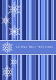 Abstracte vectorachtergrond met sneeuwvlokken Stock Afbeeldingen