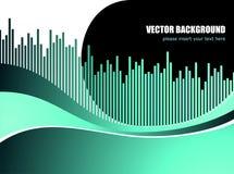 Abstracte vectorachtergrond met wit golfpatroon Stock Foto's