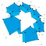 Abstracte vectorachtergrond, moderne stijltechnologie Stock Fotografie