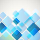 Abstracte vectorachtergrond van verschillende kleurenvierkanten Stock Afbeeldingen