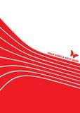 Abstracte vectorachtergrond - vlinder Royalty-vrije Stock Fotografie